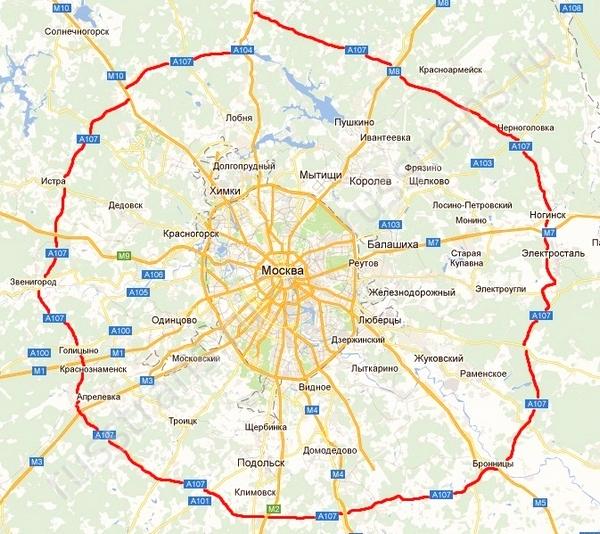 Кольцевая дорога в Московской